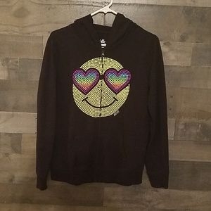 Justice Smiley Face Hoodie
